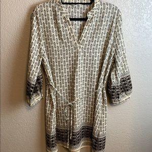 Sweet Wanderer 3/4 sleeve dress tie waist size XL